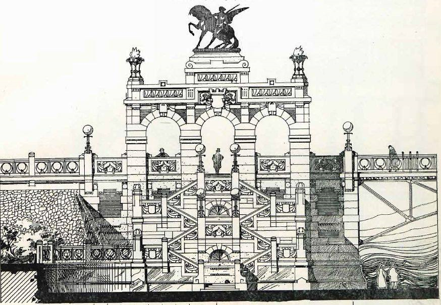 Secesyjny  Most Cesarza Mikołaja II